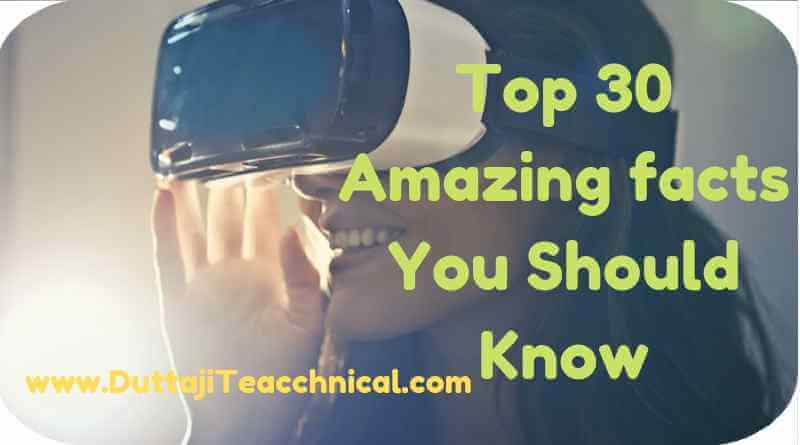 Top 30 Amazing Technology facts You Should Know