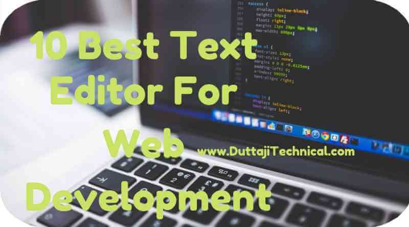 Best Text Editor For Web Development